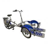 Roll-on Mobilitycare, van Raam Velo Plus rolstoeltransportfiets