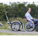 Roll-on Mobilitycare, van Raam Velo Plus rolstoeltransportfiets