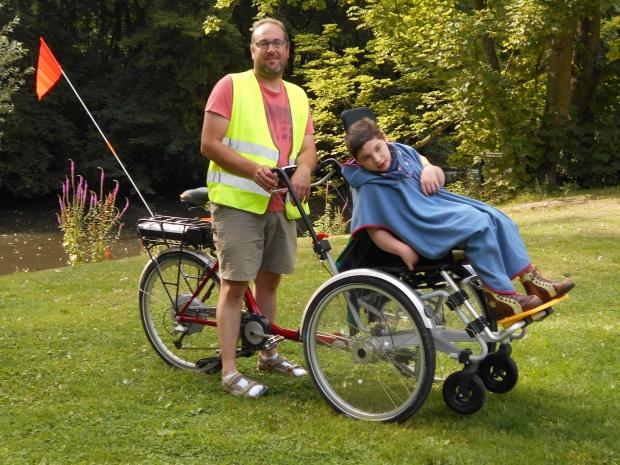 Duet junior rolstoelfiets