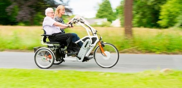 Roll-on duofiets, driewielfietsen, duofietsen, driewielfiets, elektrisch, trapondersteunin